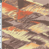 *2 YD PC--Plum/Salmon Abstract Waves Euro Print