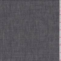 *1 3/4 YD PC--Black Slate Linen Twill Suiting