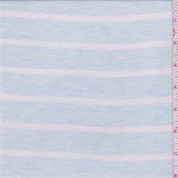 *2 YD PC--Ice Blue Stripe Jersey Knit