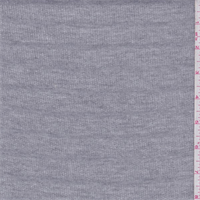 *2 1/2 YD PC--Heather Grey Muted Stripe French Terry