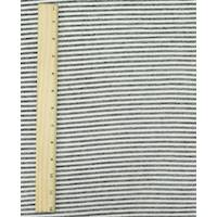 *1 YD PC--Black/Cream White Novelty Stripe French Terry Knit