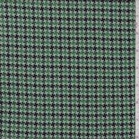 *2 1/4 YD PC--Clover/Navy Houndstooth Suiting
