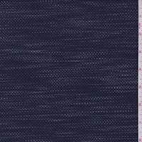 *2 YD PC--Navy/Grey Streak Pique Knit