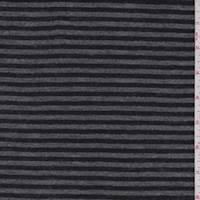 *5 YD PC--Charcoal/Black Stripe T-Shirt Knit