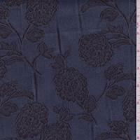 *2 5/8 YD PC--Mineral Blue Floral Jacquard Denim
