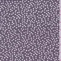 *7/8 YD PC--Dusty Plum/White Bubble Pima Cotton Lawn
