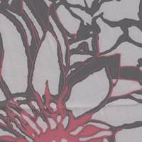*6 YD PC-- Grey/Red/Black Silk Stretch Charmeuse