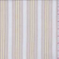Ecru/Tan Stripe Cotton Shirting