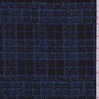 Sapphire/Black Plaid Double Knit