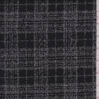 White/Black Plaid Double Knit