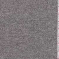 Frosted Brown Cotton Chambray