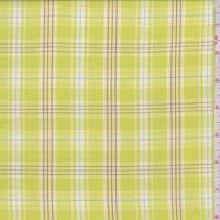 Bright Yellow Plaid Cotton Shirting