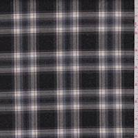 Black/Grey Sparkle Plaid Suiting