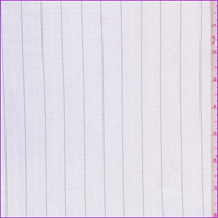 *3 1/4 YD PC--White Pinstripe Sateen Suiting