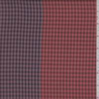 *3 YD PC--Persimmon/Brown Check Flannel Suiting