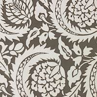 *4 YD PC--Brown/Beige Leaf Printed Canvas Decorating Fabric