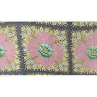 *2 PANELS--Floral Silk Chiffon