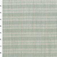 *3 5/8 YD PC--Ivory/Gray/Multi Wool Plaid Shirting