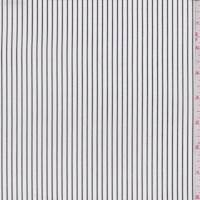 *1 1/4 YD PC--White/Off Black Pinstripe Cotton Shirting