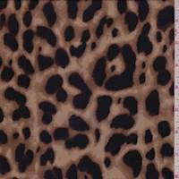 Camel Brown Cheetah Rayon Georgette