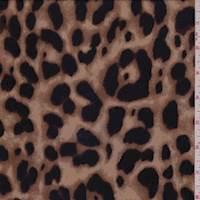 Camel Brown Cheetah Rayon Georgette