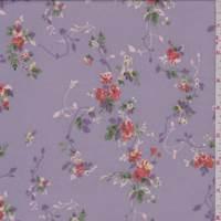 Lilac Vine Floral Rayon Georgette