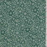 Emerald Mini Floral Rayon Georgette