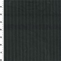 *4 7/8 YD PC--Black/Blue Stripped Wool Gabardine Suiting