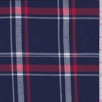 *3 YD PC--Blue/Red/White Plaid Flannel