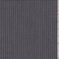 *1 1/2 YD PC--Slate/Grey Pinstripe Wool Suiting