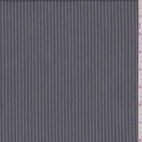 *3 3/8 YD PC--Vintage Grey Twill Stripe Suiting