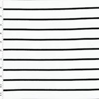 *1 3/8 YD PC--White/Black Stripe Pique Knit