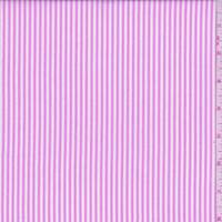 *2 1/4 YD PC--Baby Pink/White Stripe Cotton Shirting