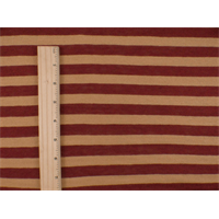 *1 7/8 YD PC--Brick/Sepia Cotton/Wool Stripe Jersey Knit