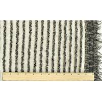 *1 YD PC--Ash Black/Taupe/Multi Wool Blend Fringe Knit