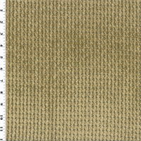 *1 YD PC--Designer Cafe Beige/Brown Cobblestone Chenille Home Decorating Fabric