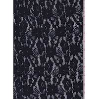 *2 5/8 YD PC--Midnight Floral Puckered Stretch Lace