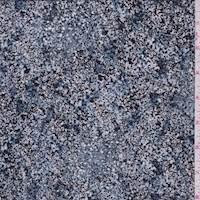 *5 1/4 YD PC--Blue Stone Sponge Print Crepe De Chine