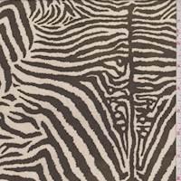 Beige/Timber Zebra Crepe Georgette