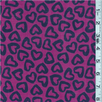 *5 YD PC--Magenta/Navy Lawn