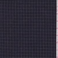 *4 3/4 YD PC--Navy/Blush Check Polyester Shirting