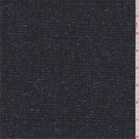 *3 1/8 YD PC--Blue Grey Wool Blend Plaid Tweed Suiting