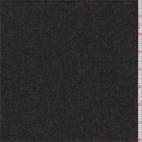 *4 1/4 YD PC--Autumn Brown/Black Wool Twill Suiting