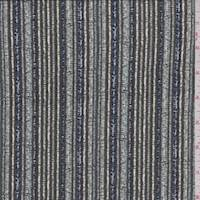 *3 1/8 YD PC--Dusty Olive Stitch Stripe ITY Jersey Knit
