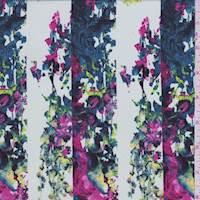 *5 YD PC--Pale Mint Kaleidescope Stripe Silk Crepe de Chine