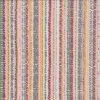 *3 5/8 YD PC--Dusty Pink Multi Stitch Stripe ITY Jersey Knit
