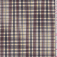 *4 YD PC--Yellow/Burgundy Plaid Polyester Suiting