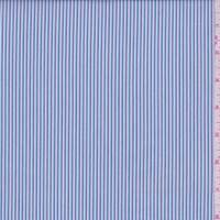 *2 1/2 YD PC--Turquoise/Plum Stripe Cotton Shirting