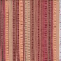 *3 YD PC--Sienna/Orange Seesucker Stripe Cotton