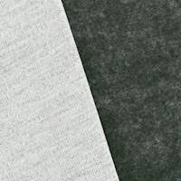 *1 1/8 YD PC--Storm Gray/White Bamboo Blend Fleece Knit